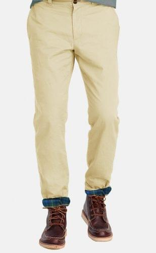 Khaki Flannel Lined Chinos