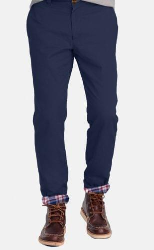Navy Flannel Lined Chinos
