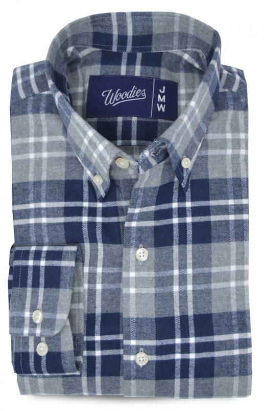 Navy Plaid Flannel Shirt