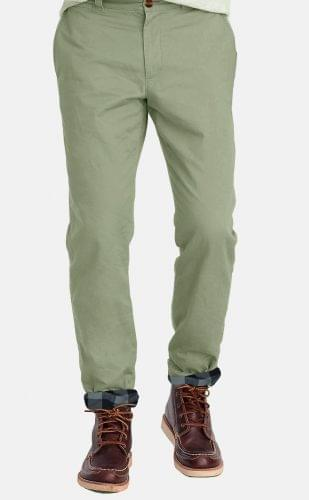 Olive Flannel Lined Chinos