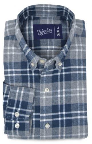 Dark Teal Plaid Flannel Shirt