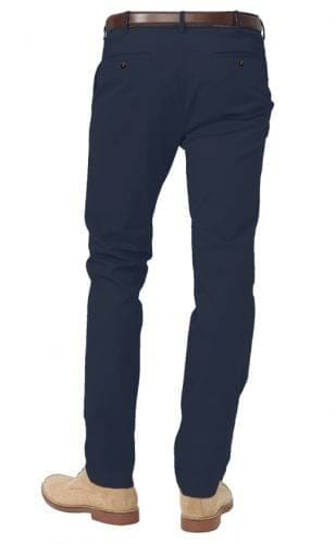 Plain Navy Chinos Fabric
