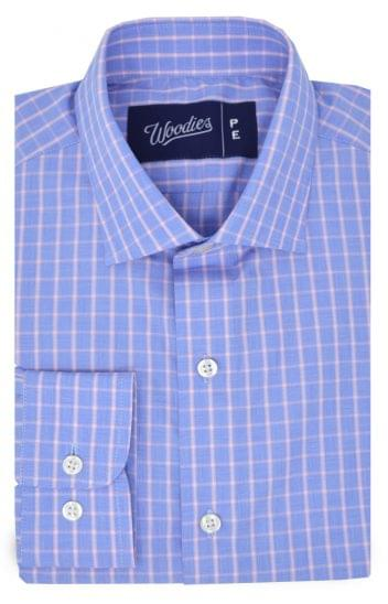 Blue & Red Check Easy Care Shirt