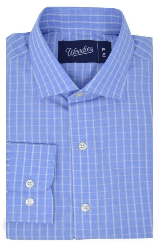 Blue White Check Easy Care Shirt