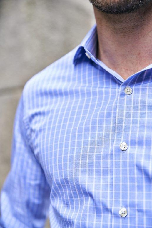 Blue & White Check Easy Care Shirt