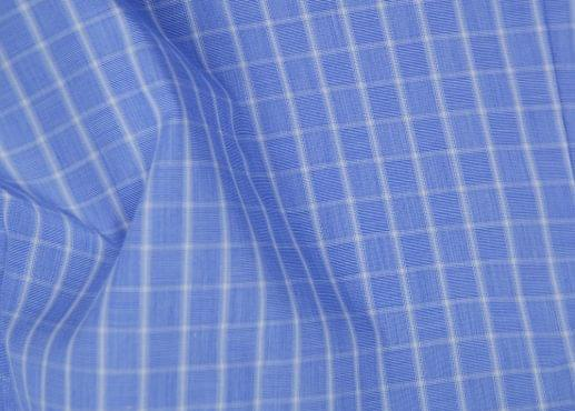 Blue & White Check Easy Care Shirt