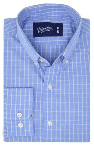 Blue & Yellow Check Easy Care Shirt