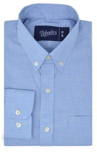 Heathered Light Blue Chambray Shirt