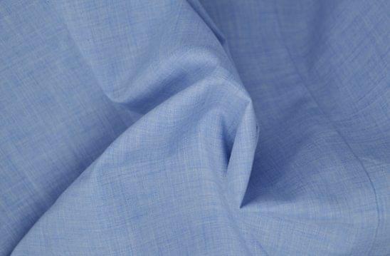 Heathered Light Blue Chambray Shirt Fabric