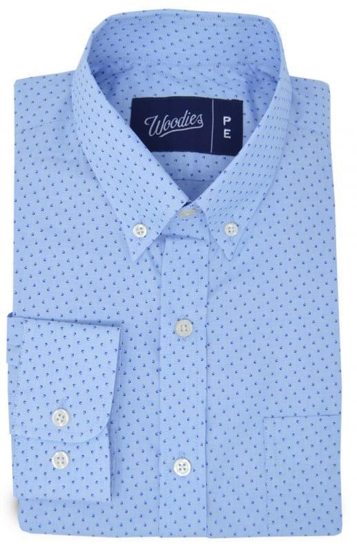 Light Blue Micro Floral Print Shirt
