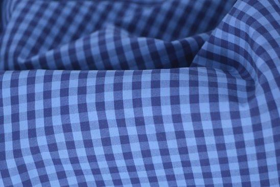 Multi Blue Gingham Shirt Fabric