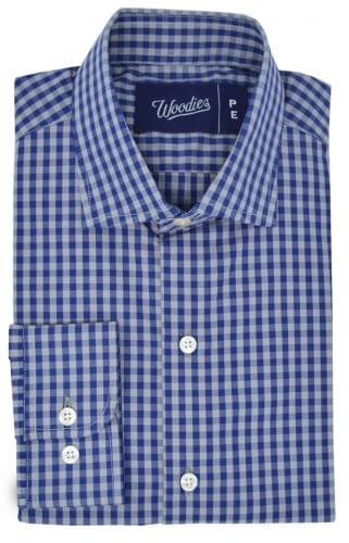 Multi Grey & Blue Gingham Shirt