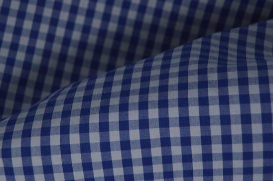 Multi Grey & Blue Gingham Shirt Fabric