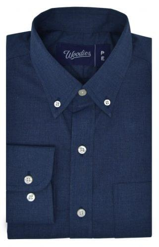 Heathered Navy Chambray Shirt