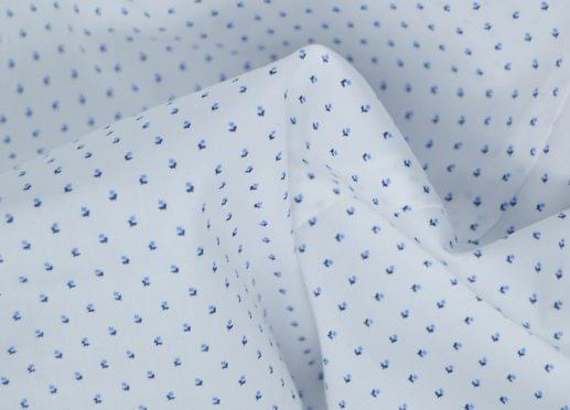 White Micro Floral Print Shirt