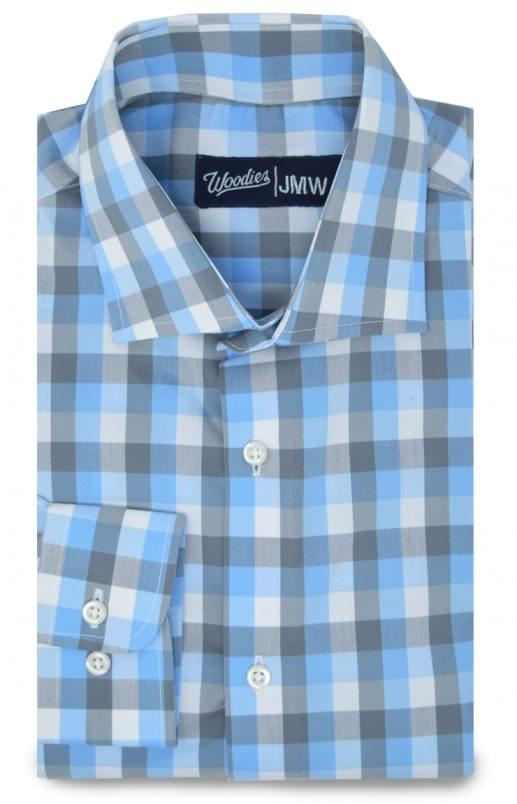 Light Blue and Grey Active Stretch Shirt