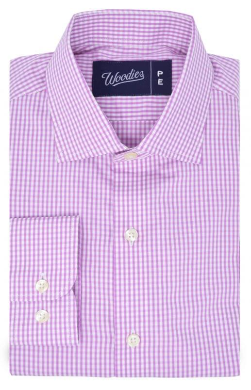 Pink Gingham Check Easy Care Shirt