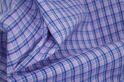 Light Pink and Navy Plaid Active Stretch Shirt