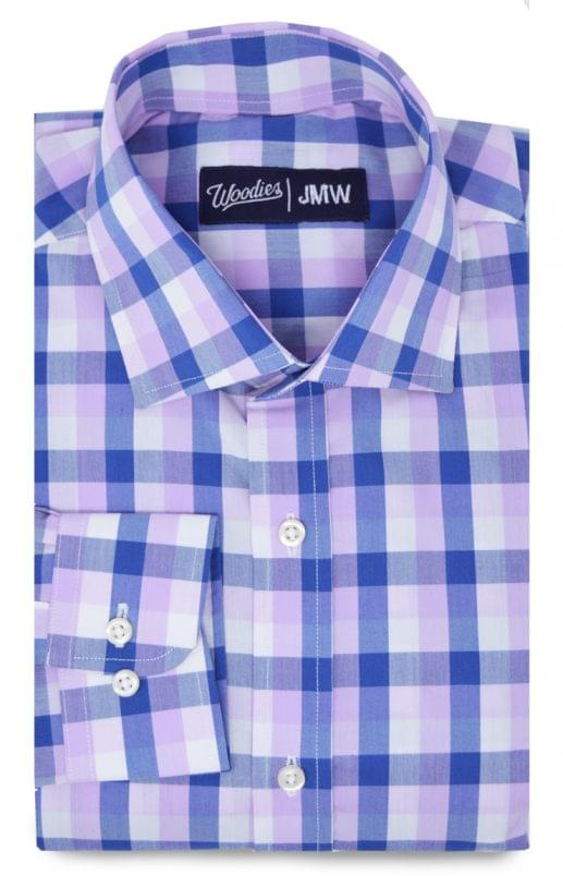Light Pink and Navy Active Stretch Shirt