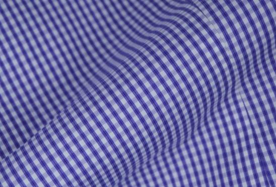 Lavender Gingham Check Easy Care Shirt Fabric