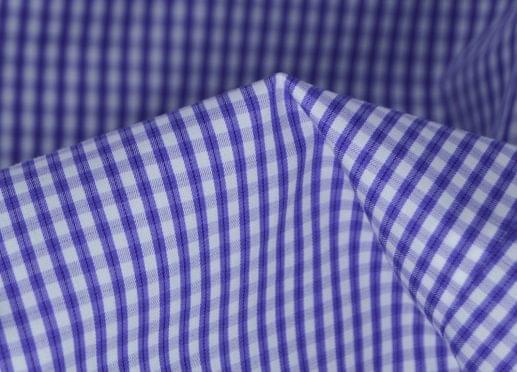 Lavender Gingham Check Easy Care Shirt