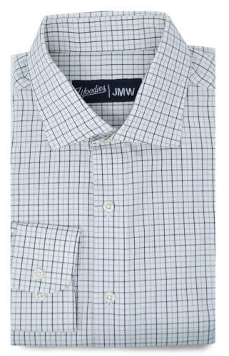 Black and Grey Tattersall Oxford Shirt