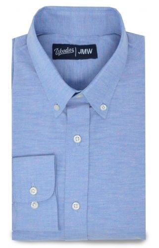 Spring Woven Speckled Blue Oxford Shirt