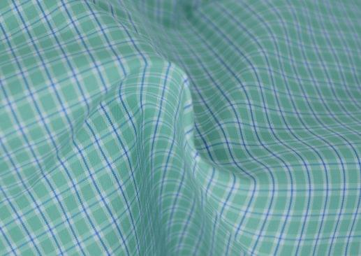 Green and Blue Easy Care Plaid Shirt