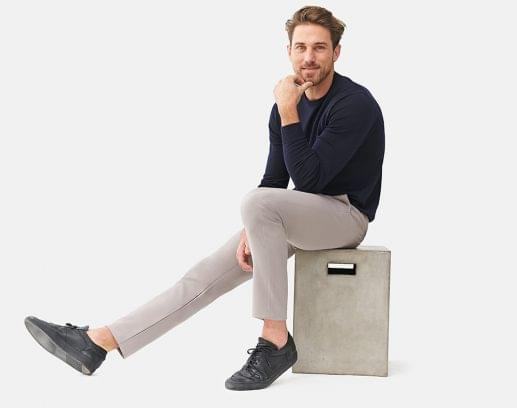 Premium Performance Light Grey Stretch Chinos