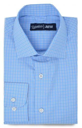 Multi Blue Easy Care Plaid Shirt