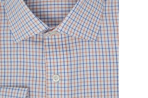 Orange and Blue Tattersall Oxford Shirt