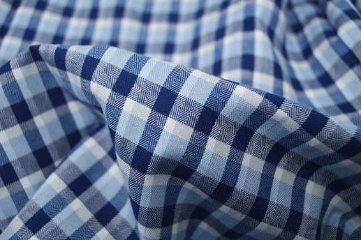 Multi Blue Herringbone Flannel Shirt