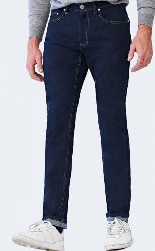 Washed Indigo Denim Jeans