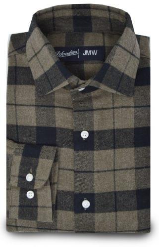 Brown Plaid Flannel Shirt