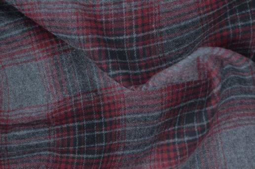 Maroon and Grey Ombre Plaid Flannel