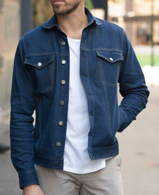 Vintage Blue Denim Trucker Jacket